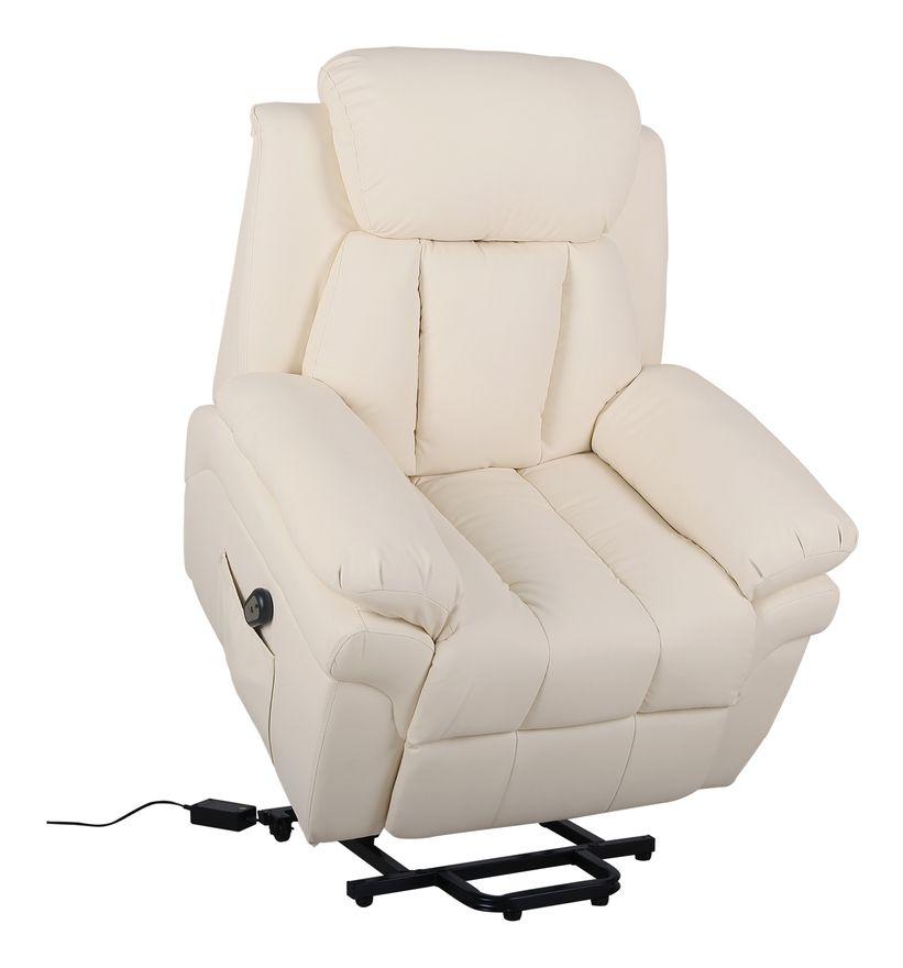 Fauteuil De Relaxation Electrique Fauteuil Releveur Inclinable Avec Repose Pied Ajustable Simili Cuir Creme Massage Chair Chair Recliner