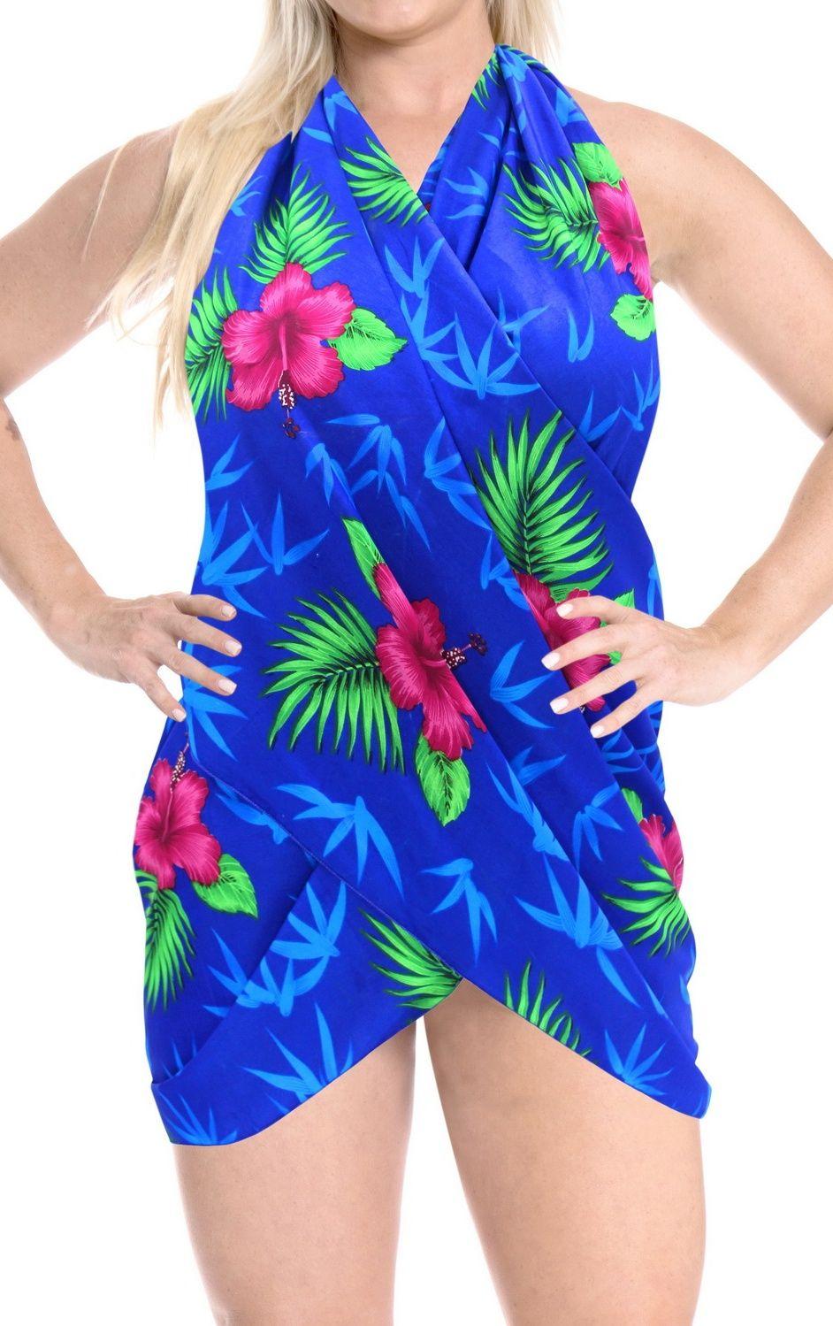 11b2faa164 LA LEELA Women's Beachwear Bathing Mini Sarong Bikini Cover up Wrap Dress  8#Beachwear, #Bathing, #Women