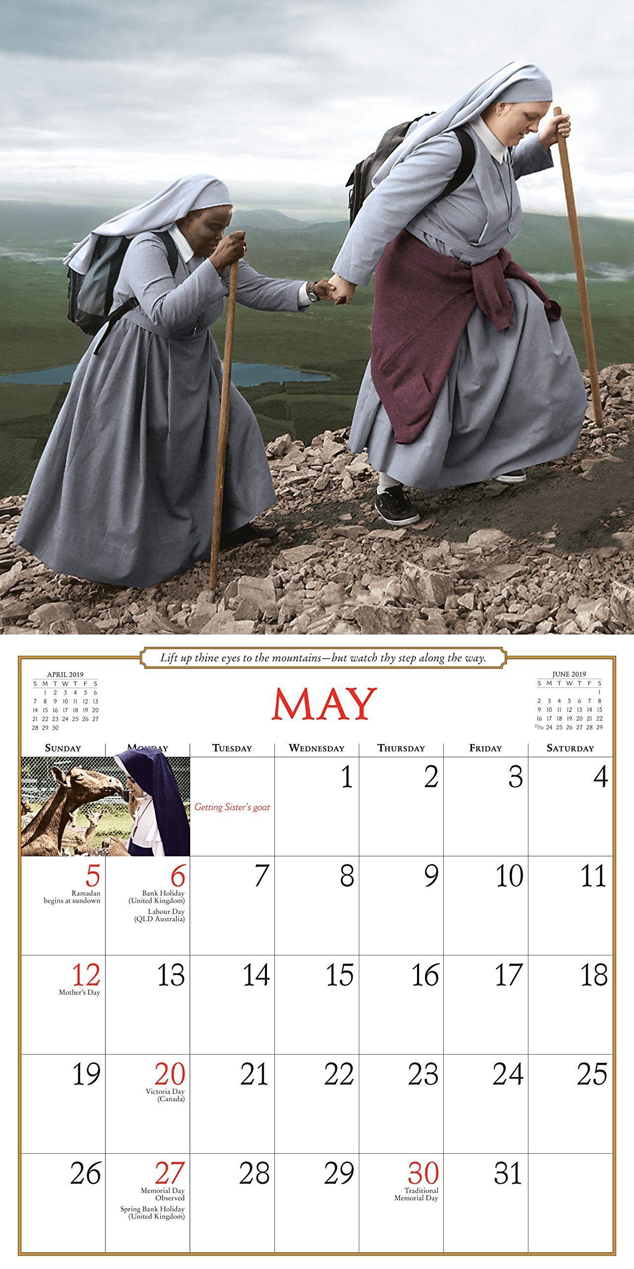 Nuns Having Fun Wall Calendar 2019 Calendar Wall Calendar July 10 2018 Wall Calendar Nuns Fun Wall Calendar Have Fun Fun