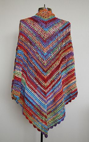 Country Cotton Shawl: free #crochet pattern by Lion Brand Yarn | cr ...