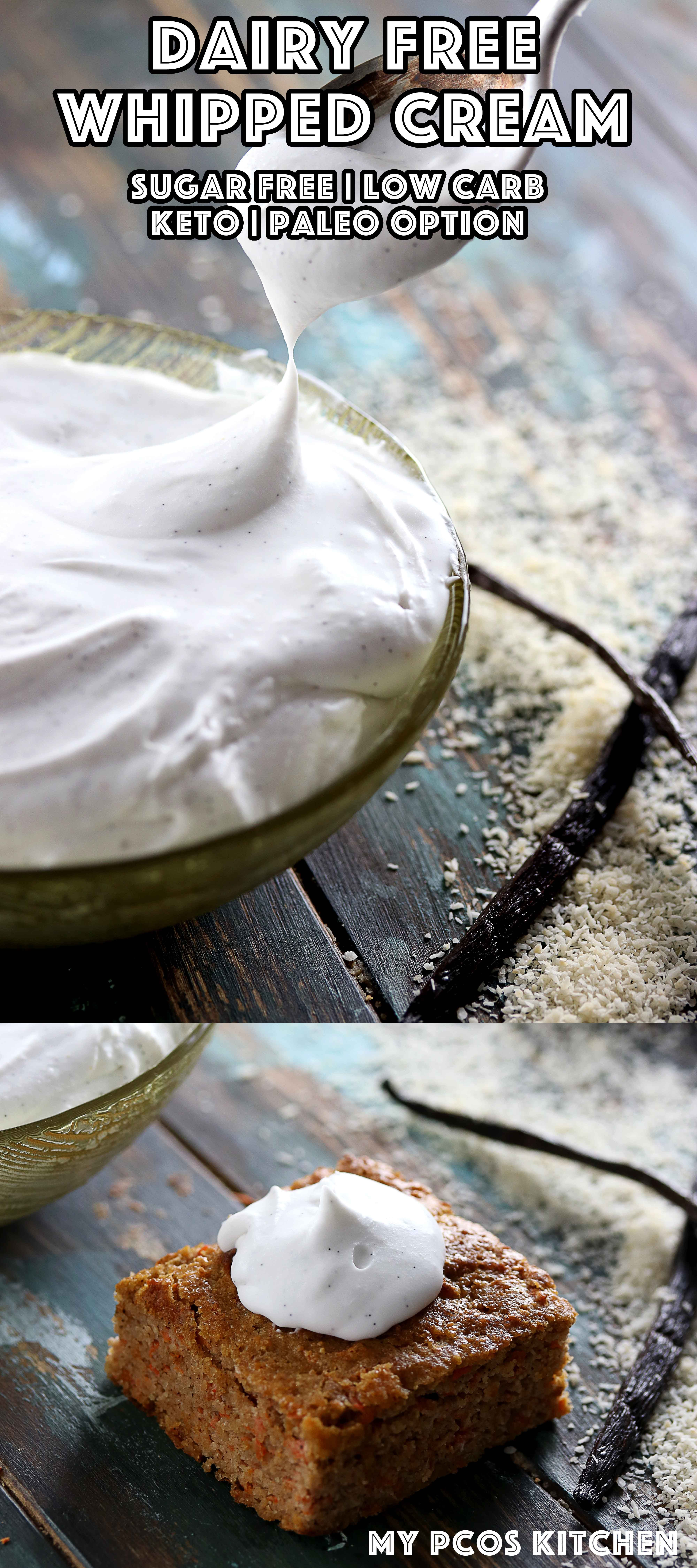 Dairy Free Whipped Cream My Pcos Kitchen Delicious Coconut