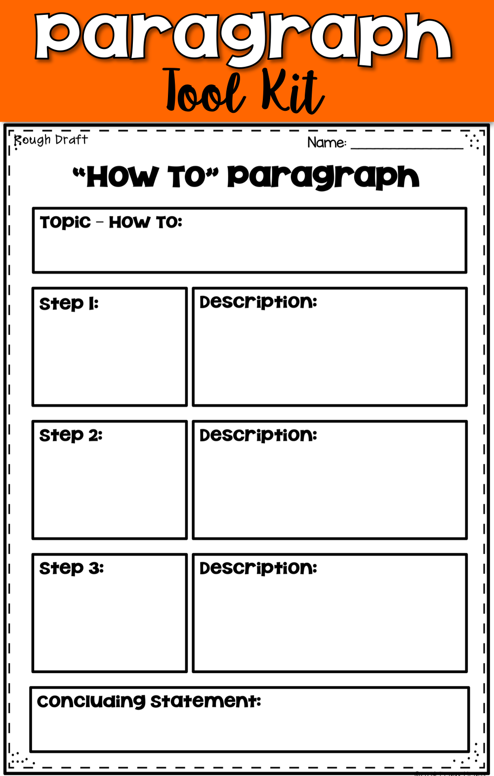 This paragraph writing pack contains differentiated graphic organizers and rubrics that will take your writers through the Writing Process.