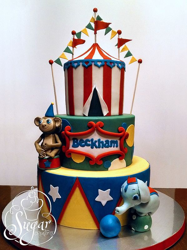 carnivalcircus birthday cake Birthday cakes Cake and Circus cakes