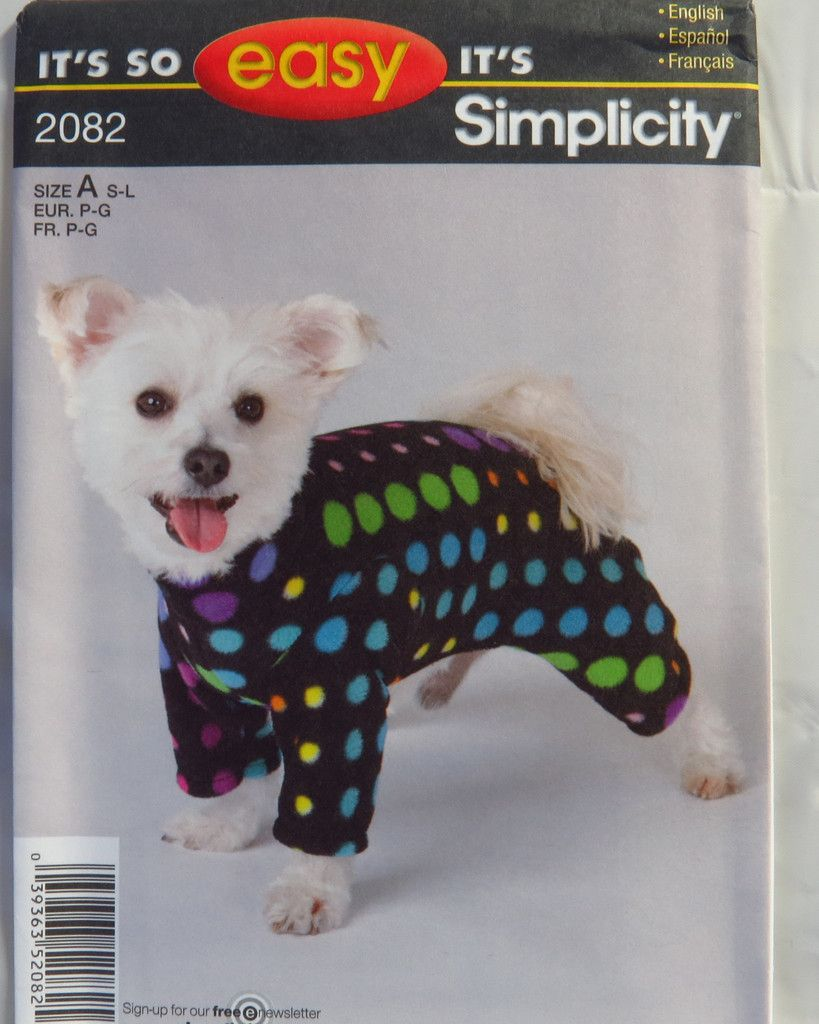 Simplicity 2082 dog coat sewing patterns dog and dog coat pattern simplicity 2082 dog coat jeuxipadfo Image collections