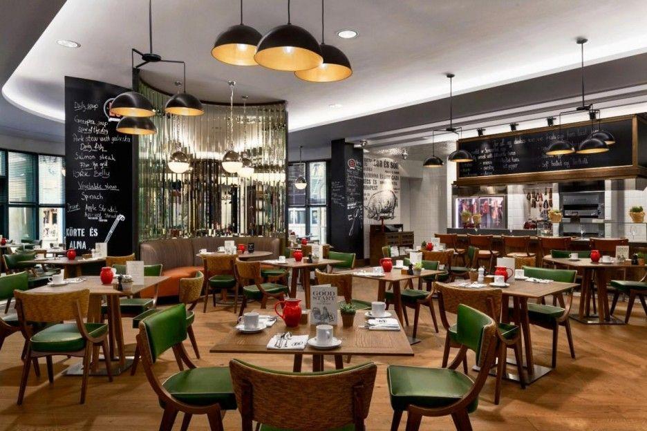 Comfortable Hotel Interiors of Kempinski Hotel Corvinus Budapest: Nice Lampshade Unit In Hotel Design Interior Restaurant