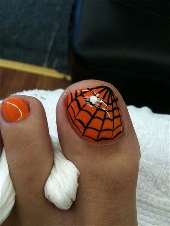 Spider Web Nail Design in 2020 | Halloween nail art ...