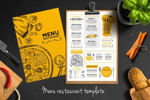 Food Menu Restaurant Flyer By Barcelona Design Shop On Creative - Creative menu design templates