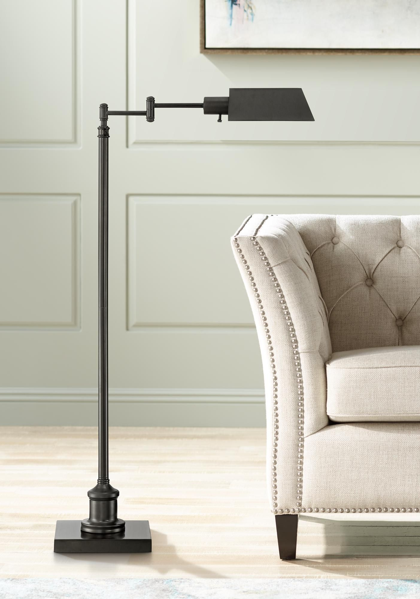 Jenson Dark Bronze Pharmacy Floor Lamp In 2020 Pharmacy Floor