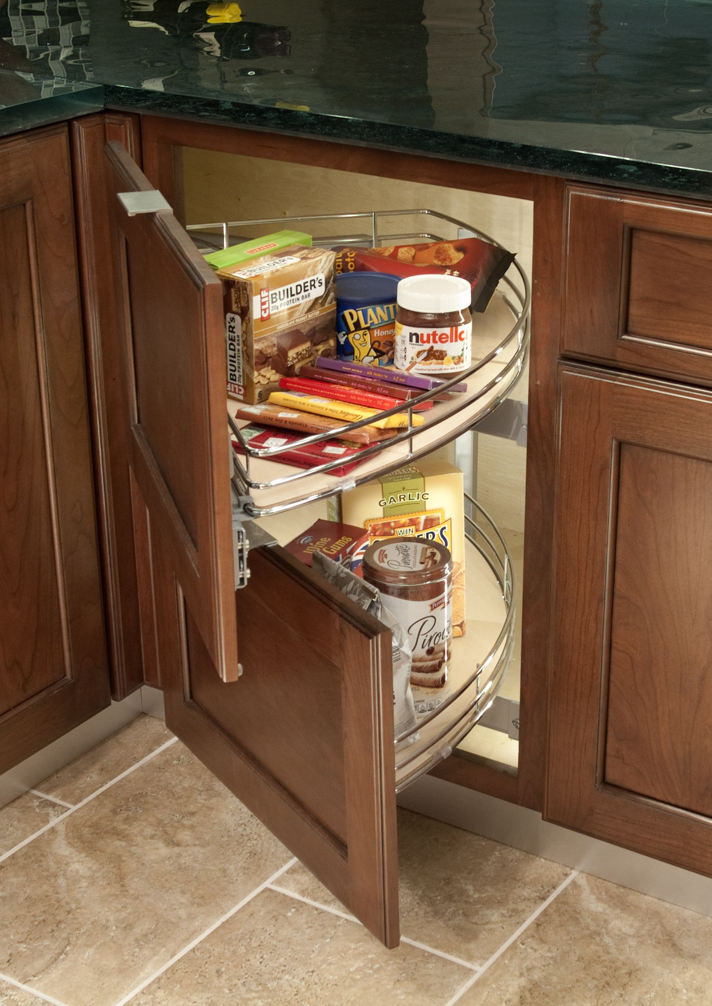No More Digging In The Dark For The Oatmeal Or Your Cell Phone Add Lighting To Your Cabinetry In An Small Kitchen Decor Kitchen Cabinets Corner Kitchen Cabinet