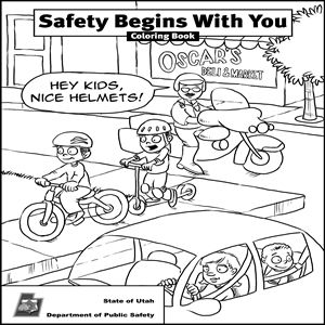 Bicycle Safety And Coloring Pages Online