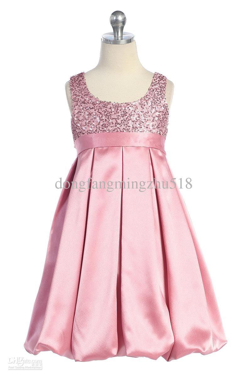 Pink And Black Flower Girl Dresses Ocuk Giyim Pinterest