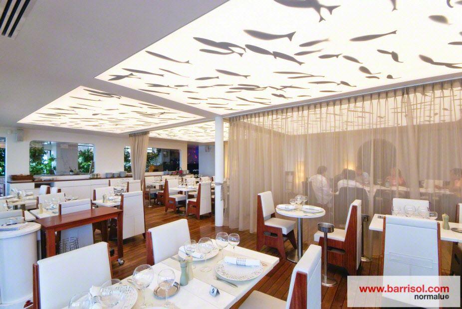 Photos plafond tendu plafond lumineux aquarium - Faux plafond suspendu lumineux ...