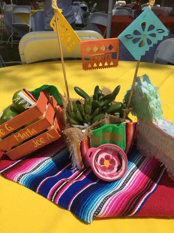 Centros De Mesa Para Fiesta Mexicana En 2020 Fiesta Mexicana Ideas Fiesta Charra Fiesta Mexicana