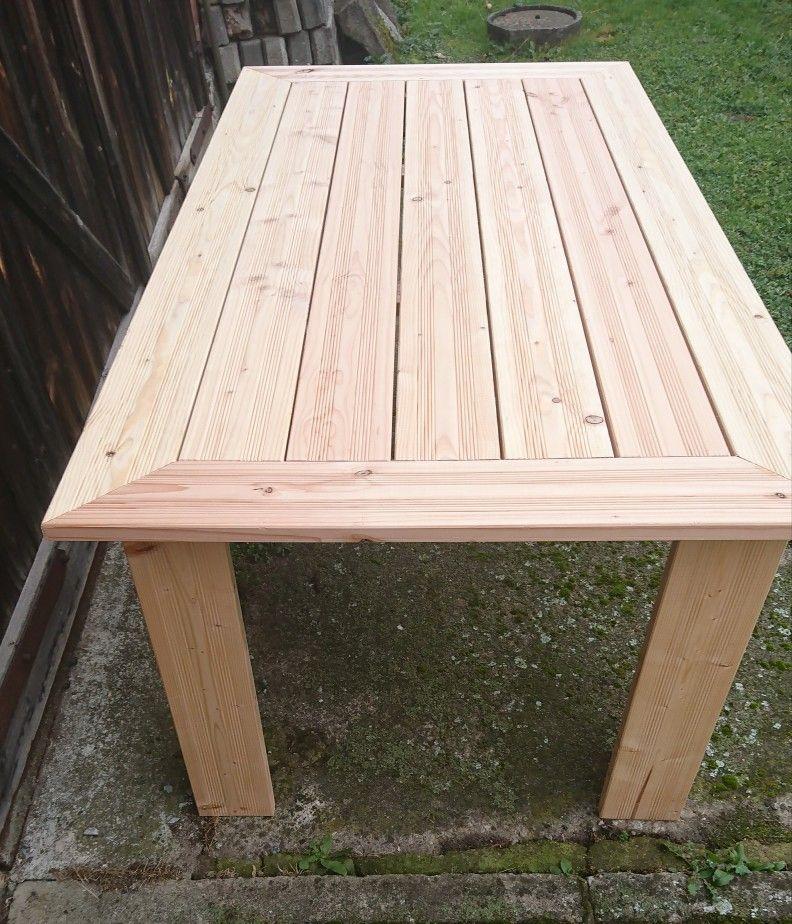 Tisch 1 05 M X 2 00 M Aus Douglasie Bodendielen Douglasie Gartenmobel Tisch