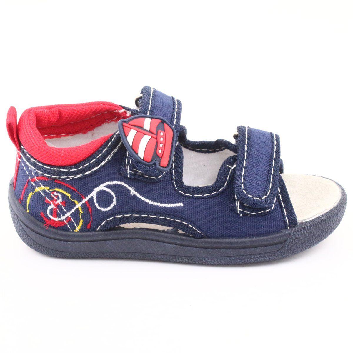 American Club Granatowe Sandalki Dzieciece Ten36 Nike Air Force Sneaker Baby Shoes Air Force Sneakers