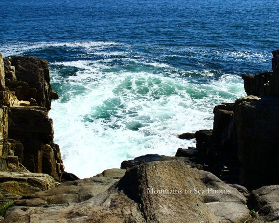 Maine Coast 8x10 Landscape Photo Ready To Ship Surf Photo New England Coastal Wall Art Ocean Waves Beach House Decor Desk Decor Coastal Wall Art Beach House Decor Maine Coast