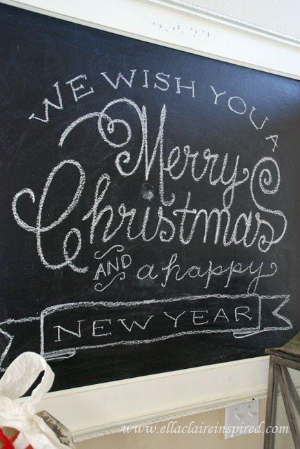 christmas chalkboard template tutorial christmas pinterest