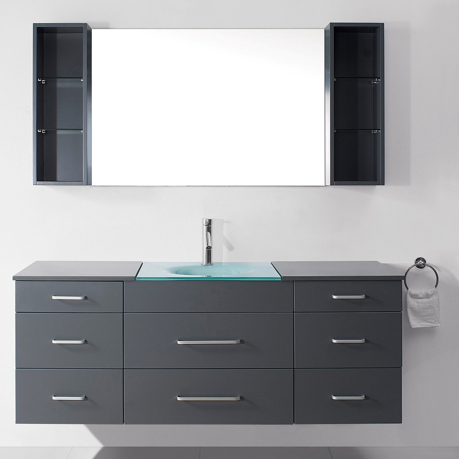 Virtu Ultra Modern Series 59 Single Bathroom Vanity Set With Mirror Allmodern