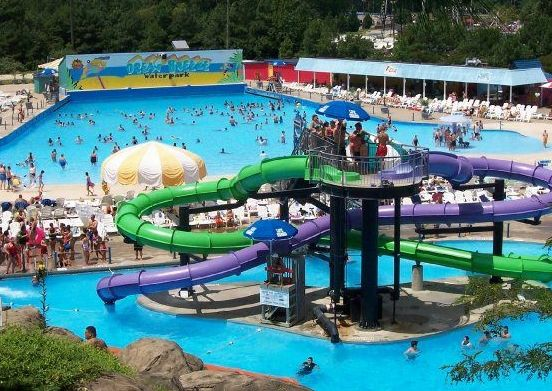 Ocean Beach Water Park Is Fun For The Whole Family With Its Adventure River And Many Other Rides Like Neptune S Revenge Hurricane Jungle Falls