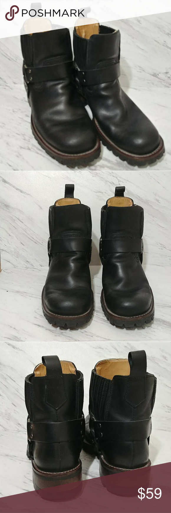 0dfb668d946 GBX Boots Black leather GBX motorcycle boots are in excellent ...