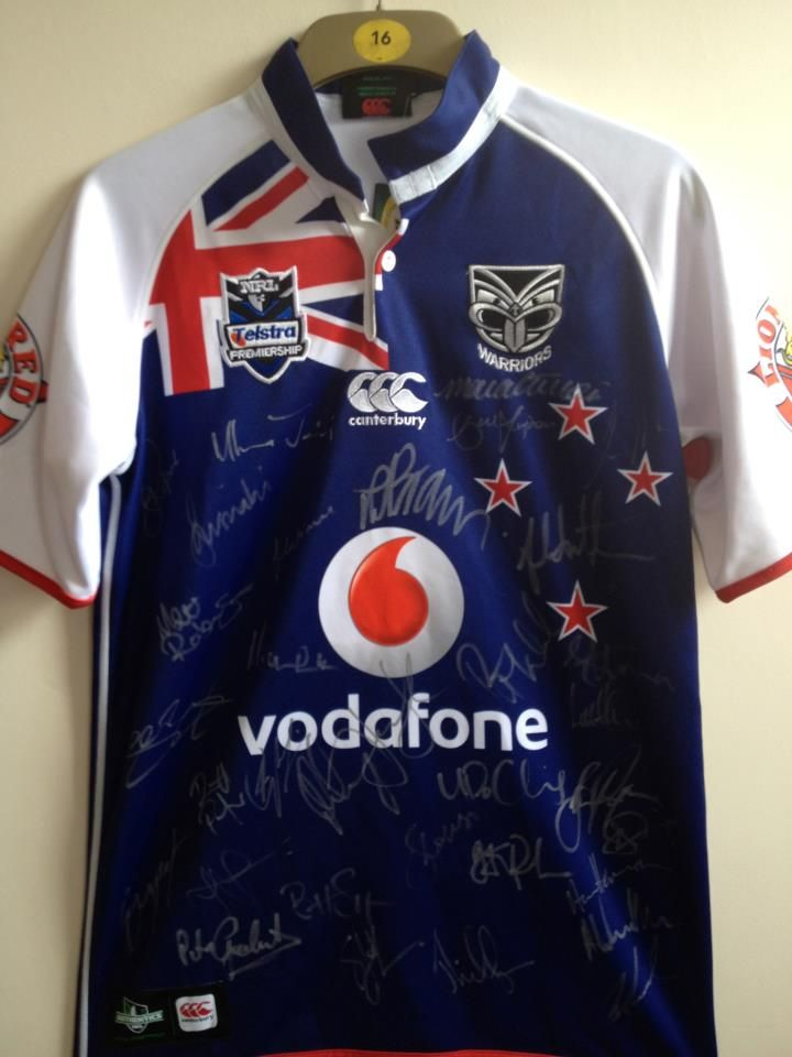 e60d858f116 New Zealand Vodafone Warriors signed replica shirt. Competition on  1895sports