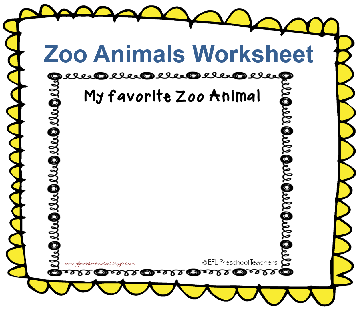 Esl Zoo Animals Unit Worksheet