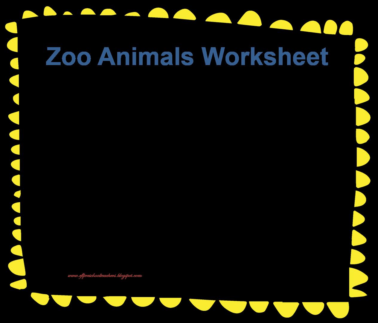 Esl Zoo Animals Unit Worksheet