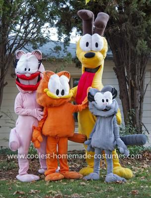 Coolest Garfield And Friends Costumes Friend Costumes Garfield Costume Homemade Cat Costume