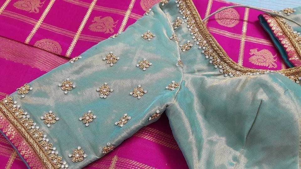 Simple Blouse Designs With Work:  Blouse designs in 2019 ,Design
