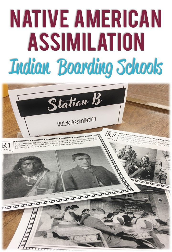 Photo of Assimilation of Native Americans Indian Boarding Schools STATIONS