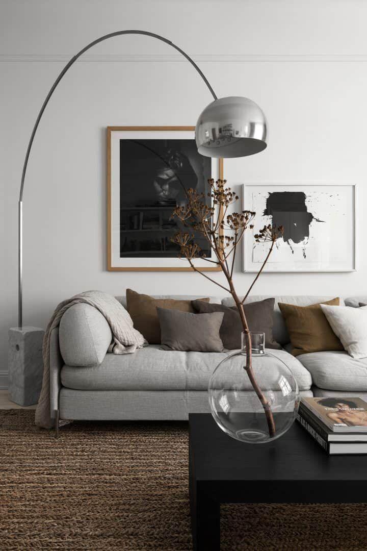 Therese Sennerholt's Soft Monochrome Stockholm Apartment #cozyliving