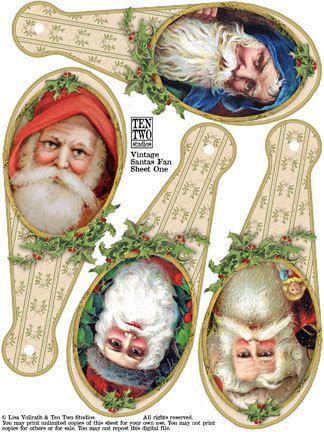 Vintage Santas Fan
