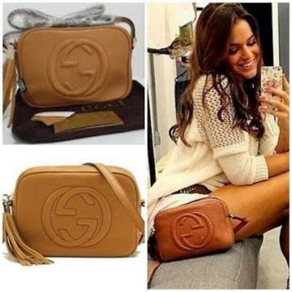 1f822c5cd Bolsa Gucci Soho Feminina Transversal Couro Legitimo Caramelo ...