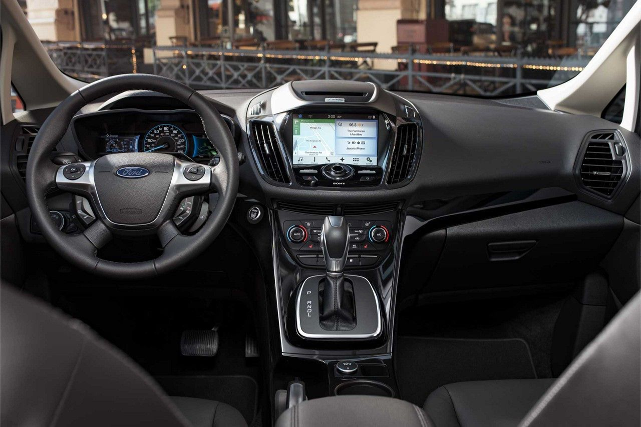 C Max Shown With Available Sync 3 In Charcoal Black Ford Max