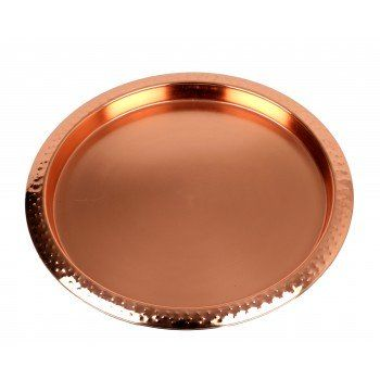 Boardmans Copper Round Stainless Steel Tray Living room