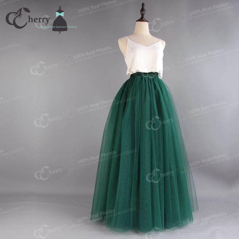 7 Layers High Quality Long Tulle Skirt Women Tutu Maxi Floor Length Evening Party Festival