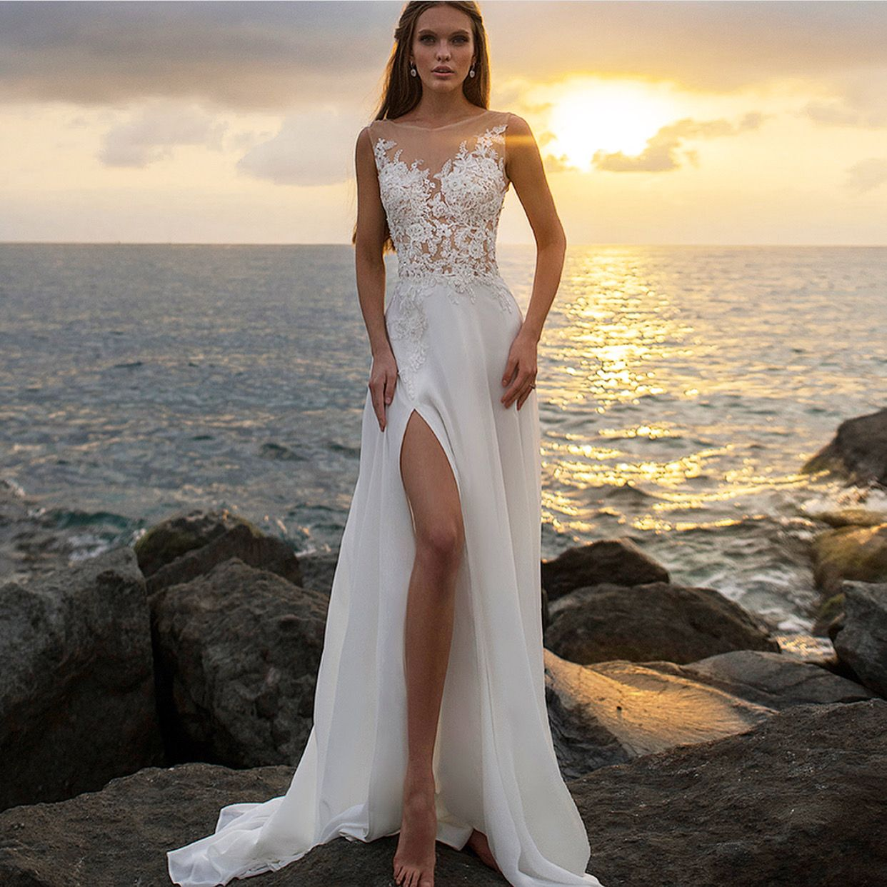 Pin By Izardel On Vestidos Beach Wedding Gown Wedding Dresses Bride Dress