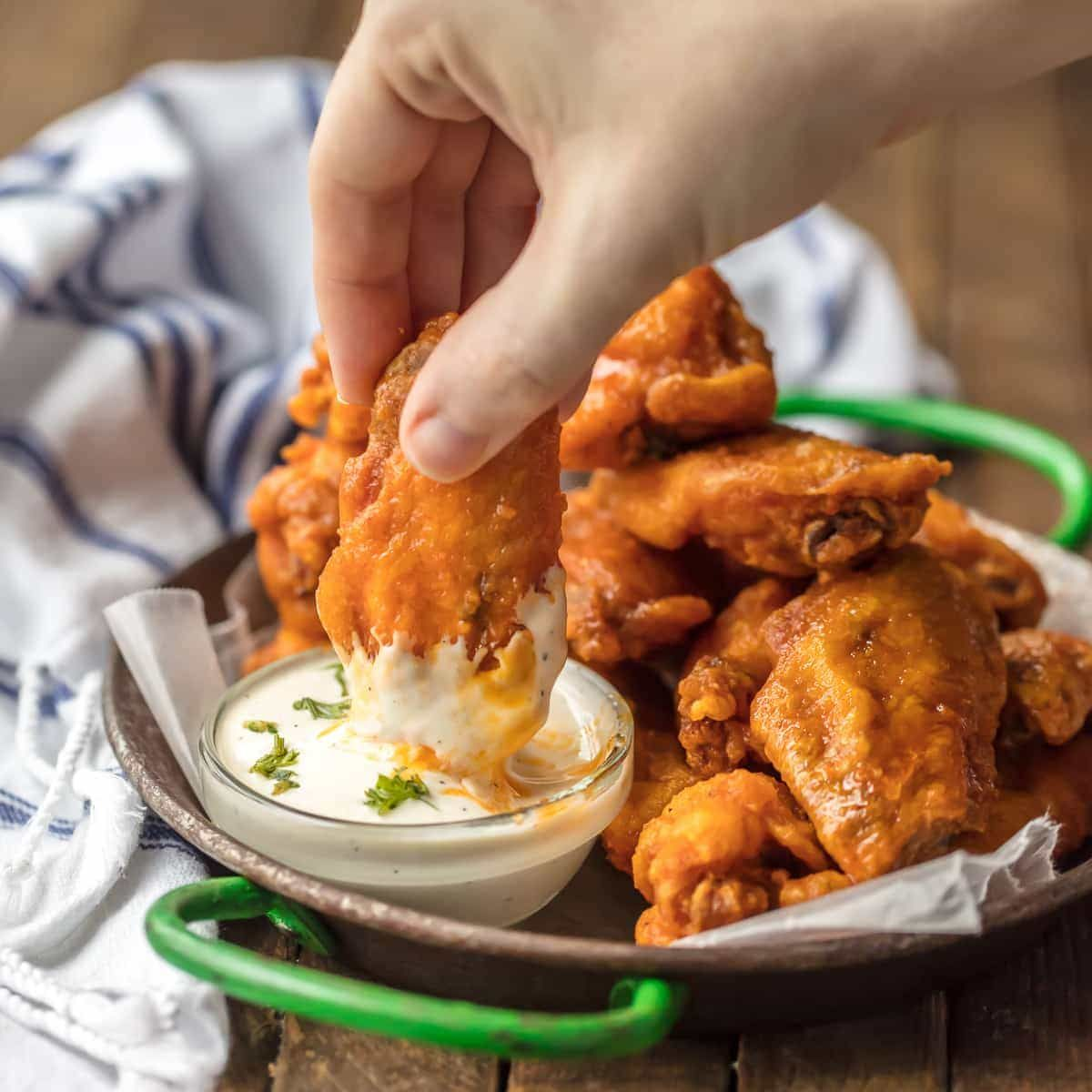 The BEST FRIED BUFFALO WINGS That Just So Happen To Be