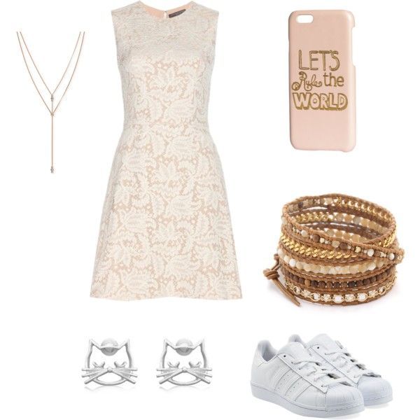 Fall Formal by julia-a-grossman on Polyvore featuring polyvore, fashion, style, Alexander McQueen, adidas Originals, Chan Luu, Vince Camuto and H&M