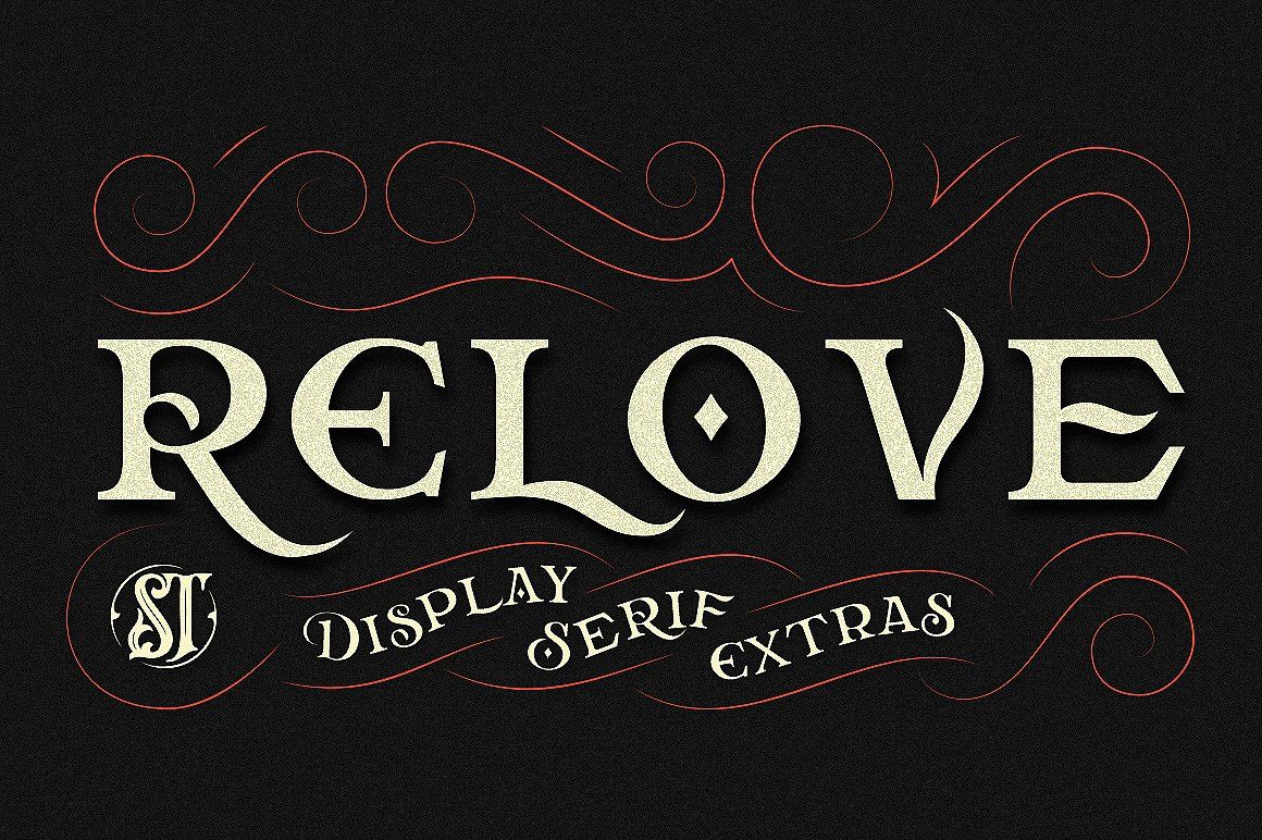 an all caps typeface decorative serif font embodying vintage and