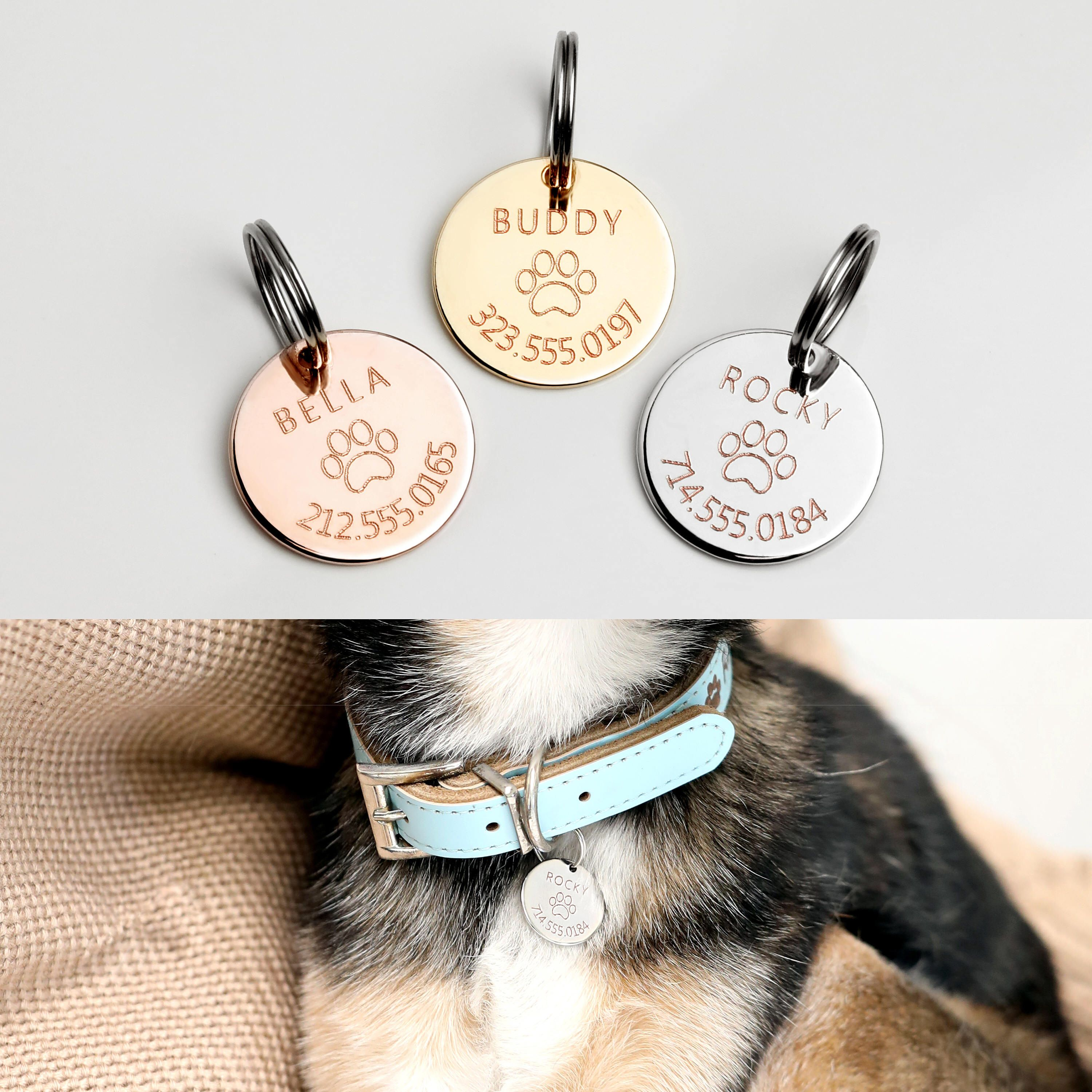 Dog tags for dogs Custom name tag for your pets Personalized name necklace for your pets