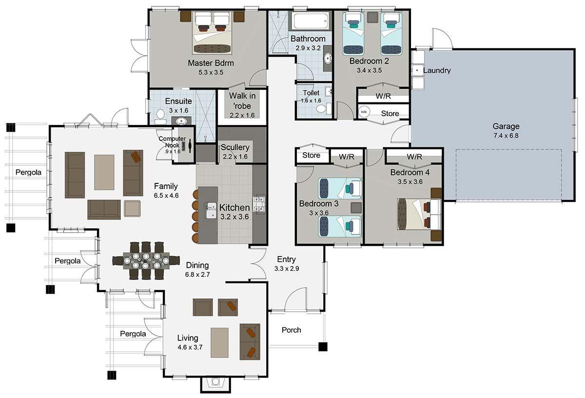 Milan 4 bedroom house plan Landmark Homes builders NZ   New house ...