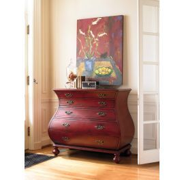 Riley Red Bombe Chest, Hooker Furniture, Riley