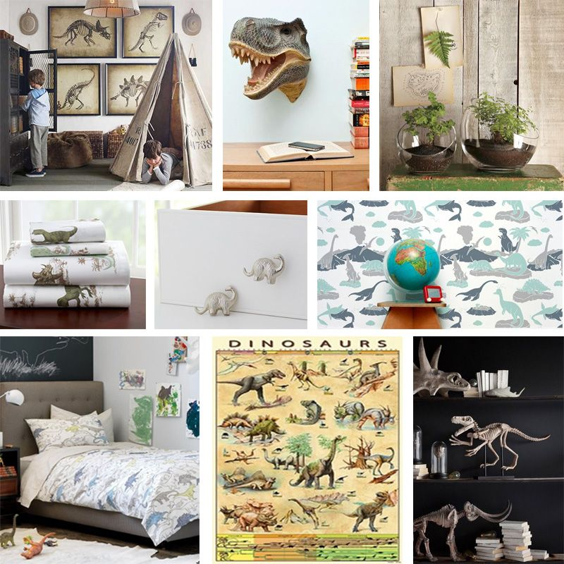 Delicieux This Awesome Kids Room Mood Board Is Inspired By Jurassic Park As Well As A  Vintage Dinosaur Feel.