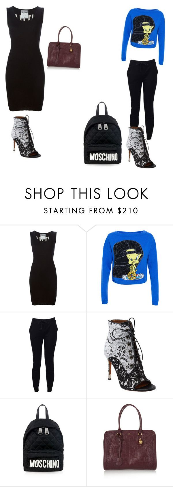 """""""Untitled #140"""" by nowifee ❤ liked on Polyvore featuring Moschino, T By Alexander Wang and Alexander McQueen"""