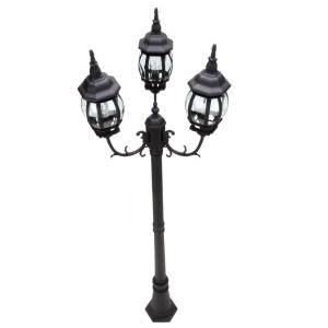 Hampton Bay 3 Head Outdoor Post Light HB7017P 05 At The Home Depot