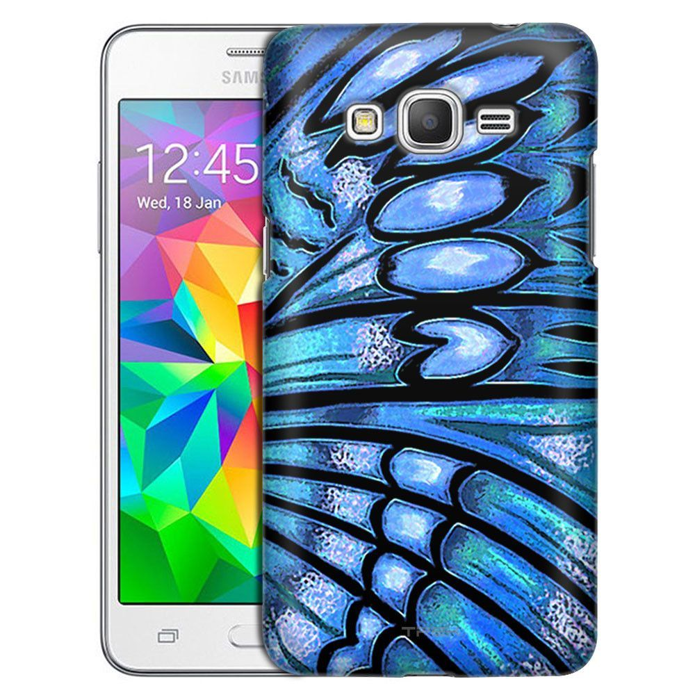 Samsung Grand Prime Butterfly Wing - Blue Turquiose Slim Case