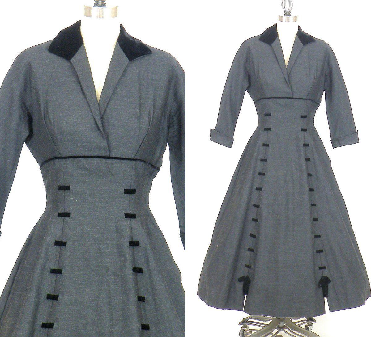 S new look dress s dress charcoal gray wool u black velvet