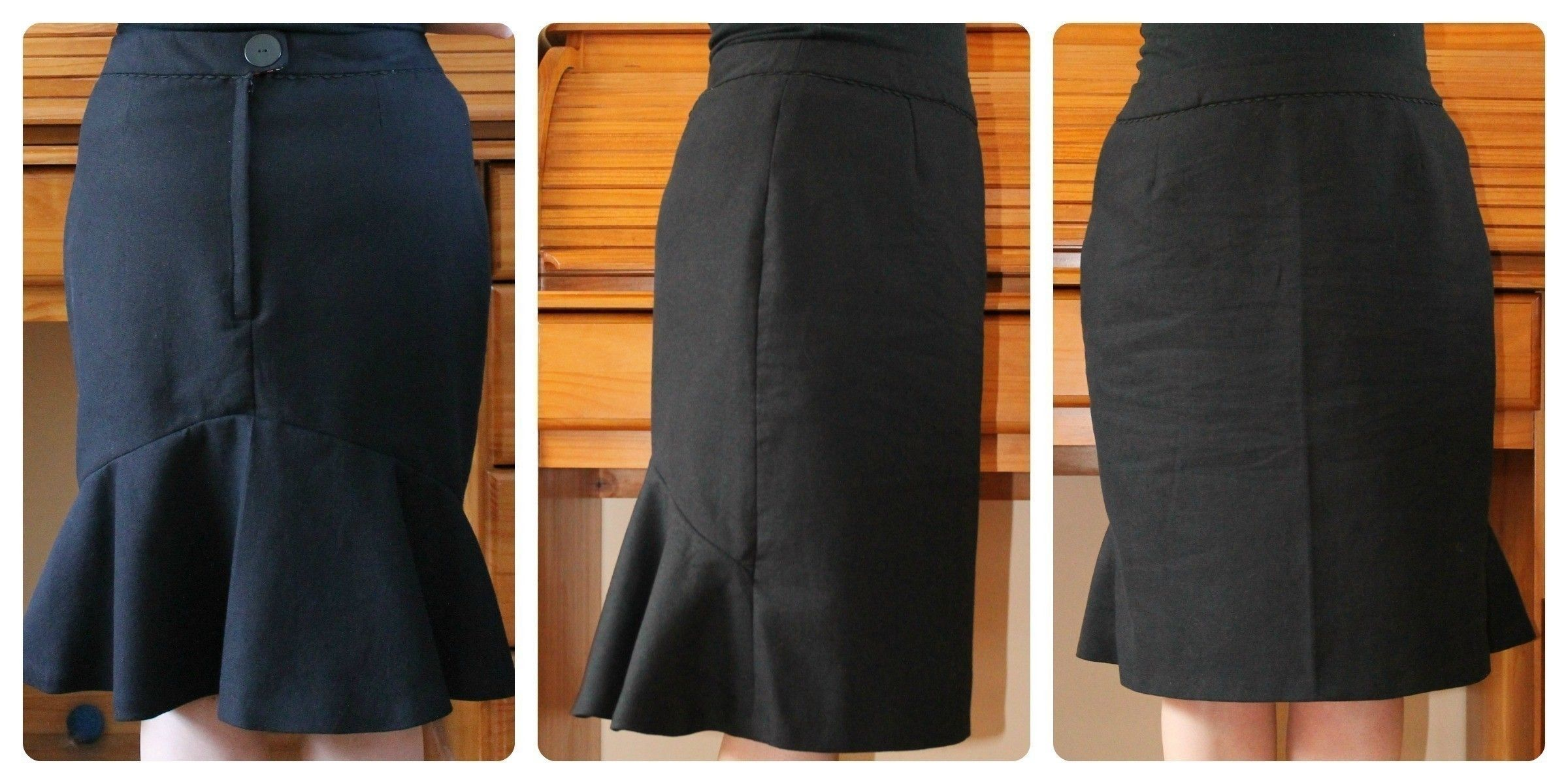 Flounce Skirt • Free tutorial with pictures on how to make a pencil skirt in under 120 minutes