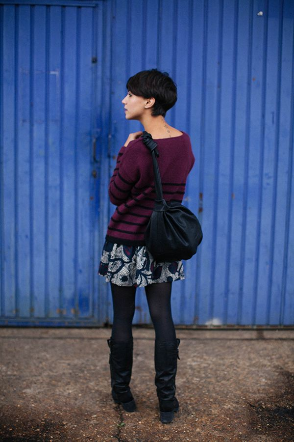 I love wearing skirts year round, they are so easy to layer for fall and winter